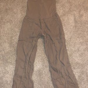 Three pairs of cargo style maternity pants